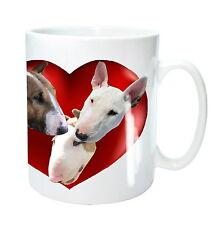 Bull Terrier Mug 3 English Bull Terrier Dogs in Heart Xmas Gift Birthday Gift