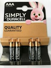 SIMPLY DURACELL AAA BATTERIES - 4 PACK 1.5V ALKALINE L03 MN2400