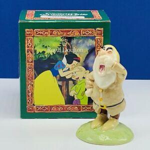 Snow White Seven 7 Dwarfs figurine Royal Doulton England Walt Disney box Sneezy