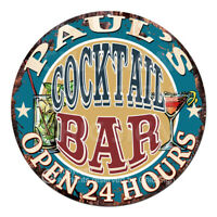 CPCO-0013 PAUL'S COCKTAIL BAR Father's Day Valentine's Day Christmas Gift Sign