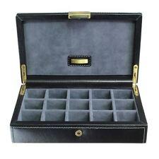Dulwich Designs Leather Heritage Black 15 Cufflink Box