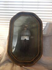 """Antique Picture with Curved or Convex Glass Frame 17"""" x 10"""""""
