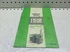 1969 HONDA E1500 PORTABLE GENERATOR SHOP SERVICE MANUAL  (HSM-199)