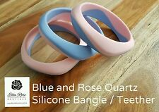 Silicone Teething Bangle Teether Ring Mum Baby Chew Jewellery Sensory No BPA