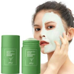 2PCS Green Tea Purifying Clay Stick Mask Acne Blackhead Remover Cleansing