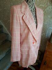 Escada pink check wool silk blazer size 40 UK14