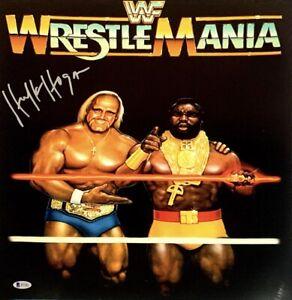 Hulk Hogan Signed HulkaMania 16x20 Photo WWF BAS I57232 w/ Mr. T Wrestlemania
