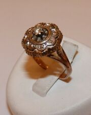 TRES JOLIE BAGUE ANCIENNE ART DECO EN OR ROSE ET GRIS 18 CARATS ET DIAMANTS