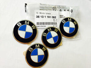 4X GENUINE BMW Wheels Center Cap Emblems sticker 114 E21 E30 R13 R28 36131181082