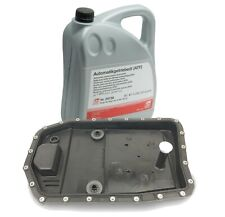 NEW 5 Liters Automatic Transmission Fluid and Filter Kit & Oil Pan for BMW