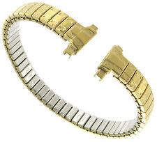 11-14mm Straight End Speidel Twist-O-Flex Gold Tone GP Watch Band Long 741/33XL