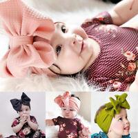 Baby Girls Headband Big Bow Knot Hairband Turban Head Band - Headwrap New~