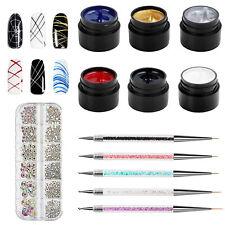 6 Colores Araña Gel Uña Arte Kit trefilado Gel Soak Off Uñas UV Gel Arte en Uñas