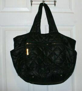 TUTILO NY Puffer Quilted  VAGABOND COLLECTION BLACK XL TOTE/ CARRY ALL