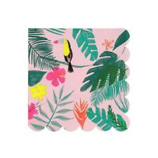 Brand New Meri Meri Pink Tropical Paper Small Napkins Party Supplies Serviettes