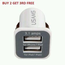 3.1A Twin usam Puerto, doble USB Cargador de coche, de encendedor de cigarrillos para iPhone 4,5,6,7