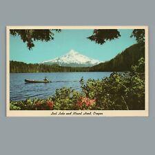 Vintage 1961 Chrome Postcard: Lost Lake & Mount Hood Oregon OR