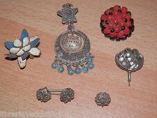 Lotto di orecchini antichi SMALTATI in argento gioielli pasta belle epoque epoca