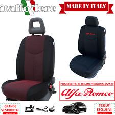 COPPIA COPRISEDILI Specifici Alfa Romeo GIULIETTA Foderine ANTERIORI Rosso 09