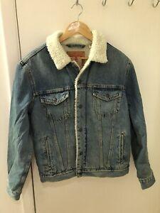 Vintage VOX jacket men/'s,sherpa jacket VOX jean jacke,men Shearling Jacket,vintage trucker jacket,cord jacket,beige jean jacket casual