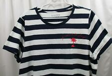 Women's J Crew Embroidered T Shirt  2X  Palm Tree