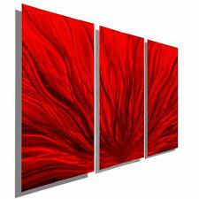 Red Modern Metal Wall Art Sculpture, Abstract Metal Wall Painting - Jon Allen