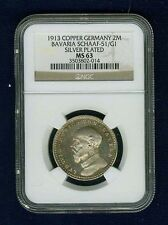 GERMAN STATES-BAVARIA  1913  2 MARK PATTERN COIN, NGC CERTIFIED MS63