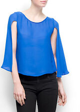 MANGO MNG ROYAL BLUE TOP CAPITA-A Size S 8 10 New With Tag