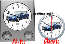 Wall Clock with Motif: Audi Car Motor Vehicle