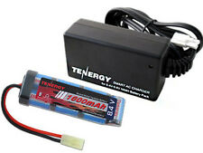 Tenergy 8.4V 1600mAh NiMH Flat AIRSOFT Battery + 8.4V-9.6V NiMH Smart Charger