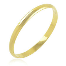 fashion jewelry Simple 9K Yellow Gold Filled Women's Smooth Bangle Bracelet