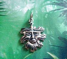 LOOK Celtic Nature God Charm Green man Silver .925 Greenman