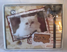 Cat Kitty Kitten Fur-Ball Picture Frame Scrapbook Dimensional in gift box