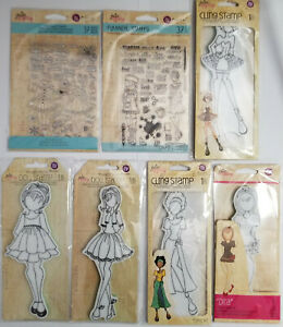 Prima Marketing Julie Nutting Mixed Media Doll and Planner Stamps - You Choose!