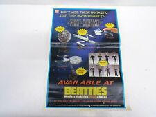 BANDAI STAR TREK FIRST GENERATION TOYS POSTER AVAILABLE AT BEATIES 1996 (B163)