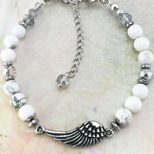Crystals & Natural Gemstones Angel Wing Bracelet with
