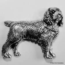 Cocker Spaniel Pewter Pin Brooch - British Hand Crafted - Gun Dog Hunting Animal