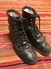 MAKE OFFER!! Justin Black Boots 2.5 D Youth Lace Up