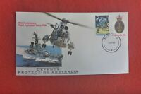 75TH ANNIV OF NAVY PSE AUST FPO POSTMARK #4 12 APRIL 1990 TIED WITH ANZAC STAMP
