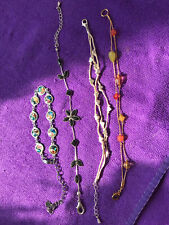 Coloures And Styles Used 4 X Fashion Bracelets Various