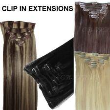 Clip in Echthaar Extensions 70cm Haarverlängerung 140 Gramm XL Set