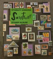 """Stanley Gibbons """"Swiftsure"""" Stamp Album 110 A4 size pages in decorative Folder"""