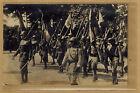 Cpa Militaria Carte Photo Paris Fêtes de la Victoire défilé 14 juillet 1919 m281