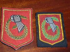 LOT 2 PATCH Insigne regiment Corps d'Armée Région Militaire FRENCH ARMY france
