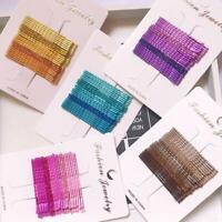 24 Teile / satz Candy Farbe Haarspangen Bobby Pins Wellige-Haarnadeln-Metallspan