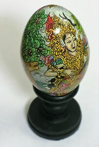 Large Ornamental Wooden EASTER Egg