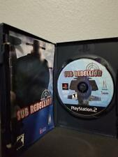 Sub Rebellion Sony PlayStation 2 PS2 Complete Case & manual Artwork damaged P36