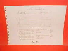 1971 JAGUAR XJ-6 SEDAN 1964-1971 MERCEDES BENZ 190 220 300 FRAME DIMENSION CHART