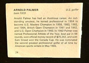 1965 BANCROFT TIDDLERS GIANT OF SPORT ARNOLD PALMER MATHEWS BACK SIDE.