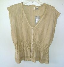 Anthropologie Moth NEUTR MOT Sleeveless Rayon Sweater  NEW Metallic